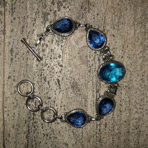 Jewelry - Sterling Topaz and Sapphire Quartz Bracelet